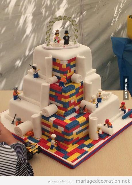 Gâteau mariage Lego