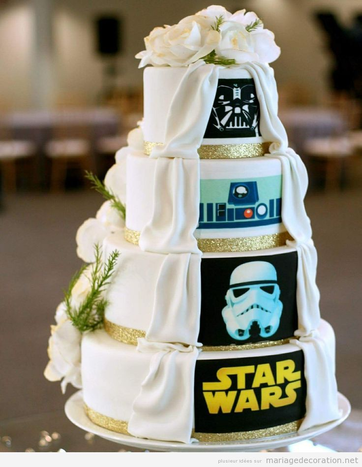 Gâteau mariage Star Wars
