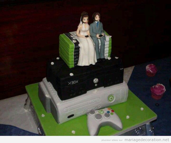 Gâteau mariage jeux vidéo 2