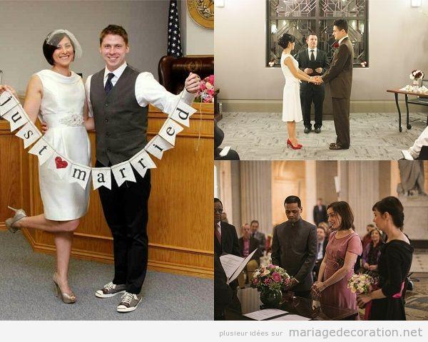 Décoration mariage civil à la mairie