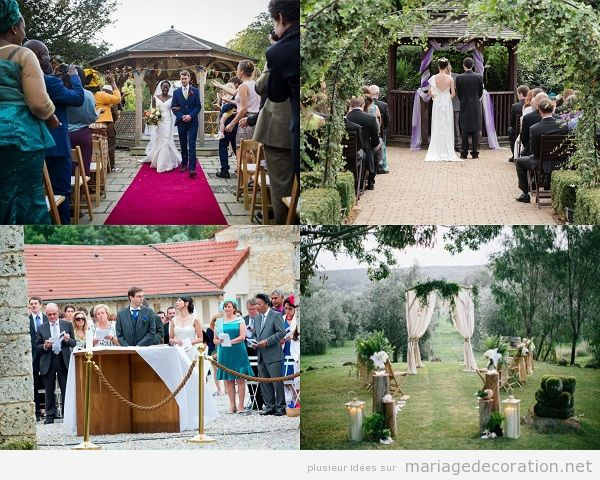 Décoration mariage civil à plein air