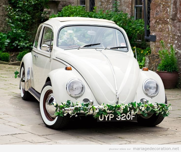 Déco mariage voiture vintage 13