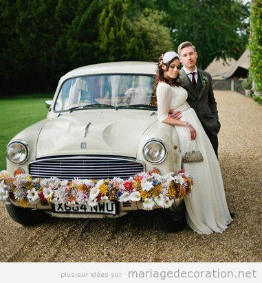 Déco mariage voiture vintage