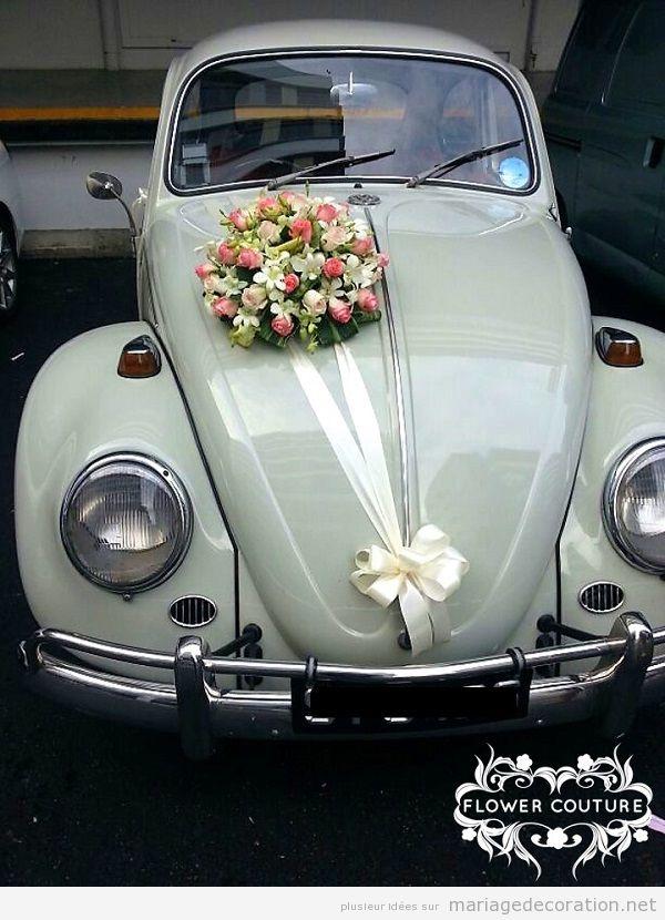 Déco mariage voiture vintage 2