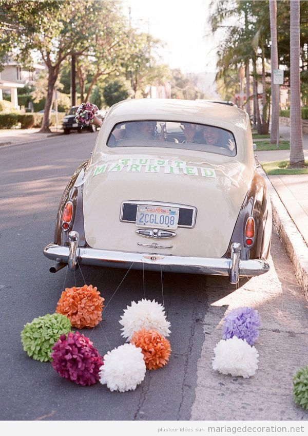 Déco mariage voiture vintage 10