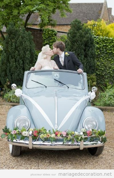 Déco mariage voiture vintage 12