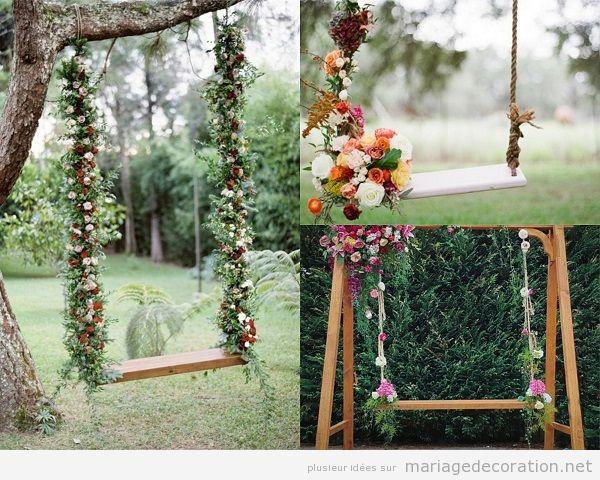Tendandes décoration mariage 2018 balançoirs