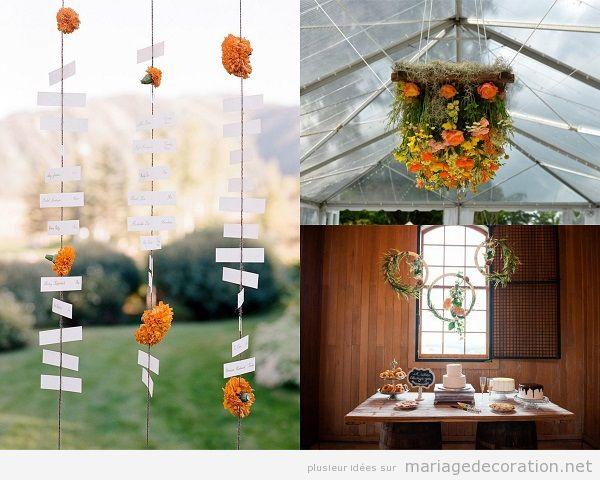 Tendandes décoration mariage 2018 fleurs suspendues
