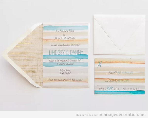 Tendances invitation mariage aquarelle