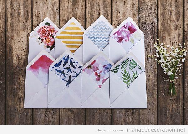 Tendances invitation mariage enveloppes