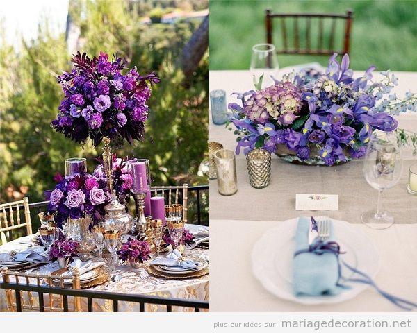 d co mariage ultra violet couleur pantone ann e 2018 d coration mariaged coration mariage. Black Bedroom Furniture Sets. Home Design Ideas