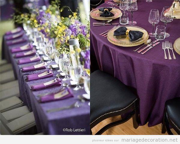 Id es d co mariage mariage pas cher d coration de tables - Nappes et serviettes de table ...