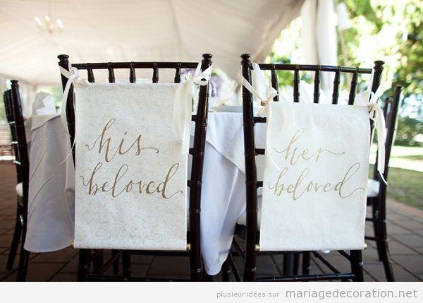 Idées originales mariage 2018 calligraphie