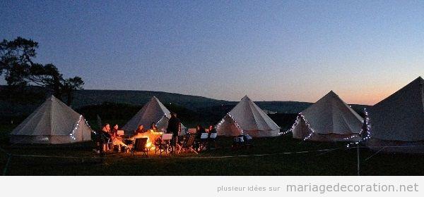 Idées originales mariage 2018 camping