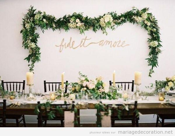 Idées originales mariage 2018 garlande naturelle