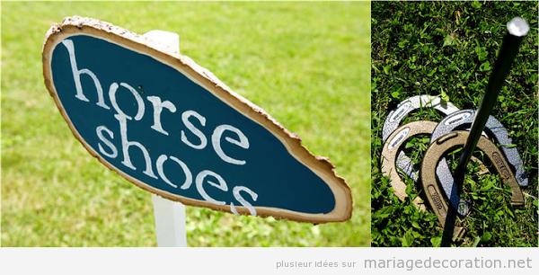 Jeux mariage fer a cheval
