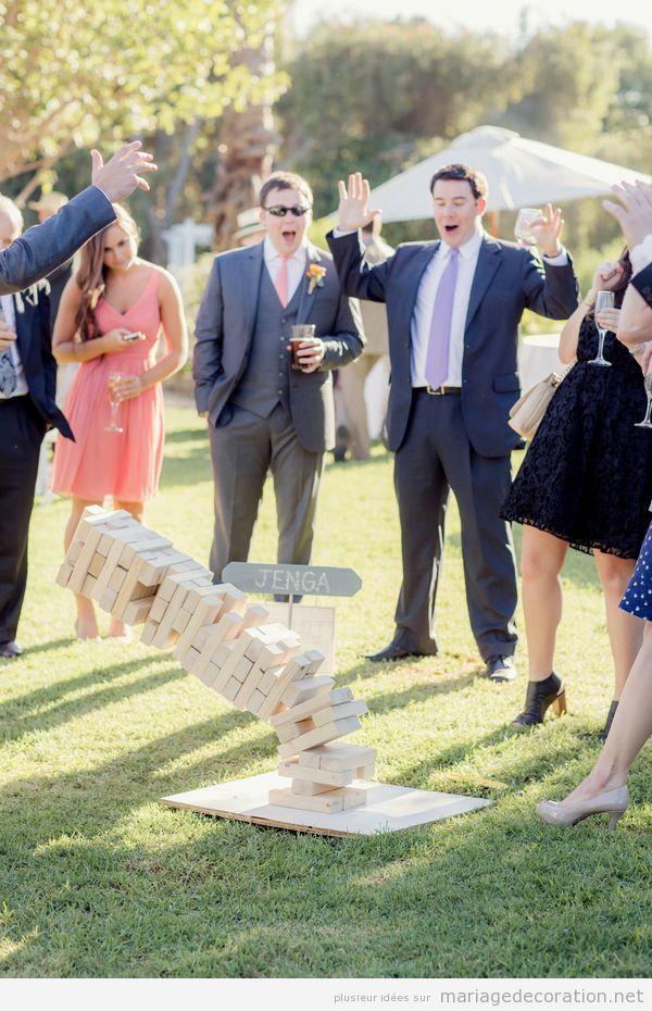 Jeux mariage jenga géant