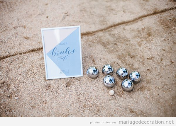 Jeux mariage petanque