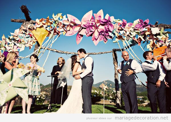Tendances déco mariage été 2018 cerf volant papier