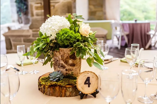 Centre table mariage nature