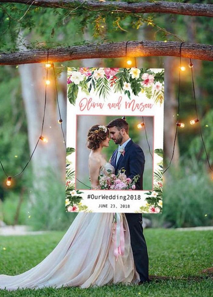 Idées photobooth mariage cadre Polaroid