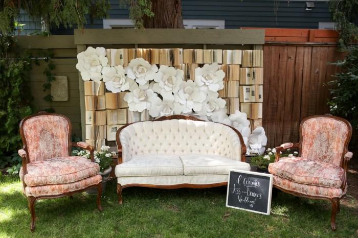 Idées photobooth mariage avec canapé