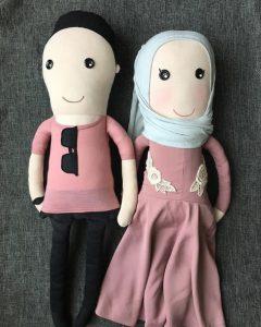 Peluche couple personnalisée