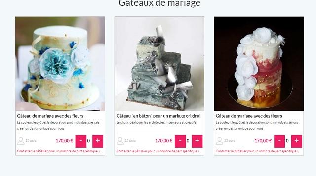 Gâteaux mariage fleurs Paris