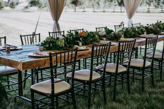 Table mariage en boiss massif